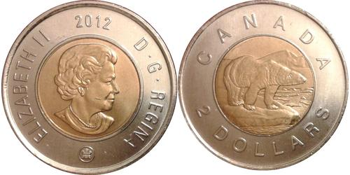 2 Dollar Canada Nickel Elizabeth II (1926-)