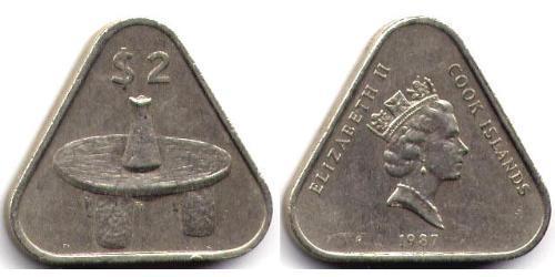 2 Dollar Cookinseln  Elizabeth II (1926-)