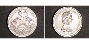 2 Dollaro Bahamas Argento Elisabetta II (1926-)