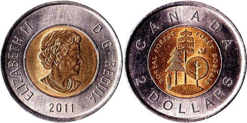 2 Dollaro Canada Bronzo/Nichel Elisabetta II (1926-)