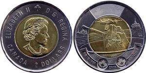 2 Dollaro Canada Ottone Elisabetta II (1926-)