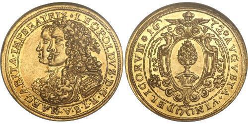 2 Ducat Augsburg (1276 - 1803) Gold Leopold I. (HRR)(1640-1705)
