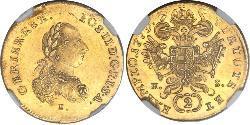 2 Ducat Holy Roman Empire (962-1806) Gold Joseph II, Holy Roman Emperor  (1741 - 1790)