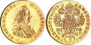 2 Ducat Holy Roman Empire (962-1806) Gold Maria Theresa of Austria (1717 - 1780)