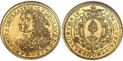 2 Ducat Imperial City of Augsburg (1276 - 1803) Gold Leopold I, Holy Roman Emperor (1640-1705)