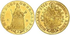 2 Ducat Kingdom of Hungary (1000-1918) Gold Maria Theresa of Austria (1717 - 1780)