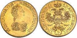 2 Ducat Holy Roman Empire (962-1806) / Principality of Transylvania (1571-1711) Gold Maria Theresa of Austria (1717 - 1780)