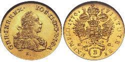2 Ducat Holy Roman Empire (962-1806) / Principality of Transylvania (1571-1711) Gold Joseph II, Holy Roman Emperor  (1741 - 1790)
