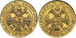 2 Ducat Tsardom of Russia (1547-1721) Gold Feodor III of Russia (1661 - 1682)