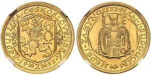 2 Ducat Tchécoslovaquie  (1918-1992) Or