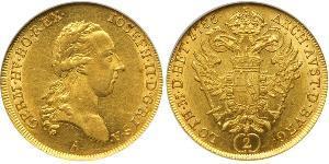 2 Ducat Habsburg Empire (1526-1804) Oro Joseph II, Holy Roman Emperor  (1741 - 1790)