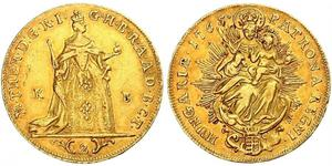 2 Ducat Reino de Hungría (1000-1918) Oro Maria Theresa of Austria (1717 - 1780)