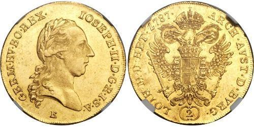 2 Ducat Sacro Imperio Romano (962-1806) Oro Joseph II, Holy Roman Emperor  (1741 - 1790)