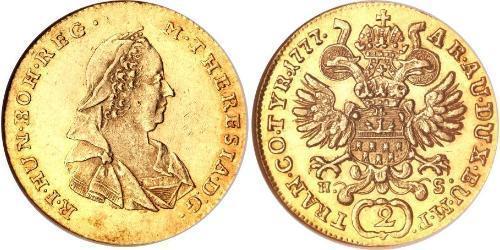 2 Ducat Sacro Imperio Romano (962-1806) Oro Maria Theresa of Austria (1717 - 1780)
