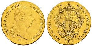 2 Ducat Sacro Romano Impero (962-1806) Oro Joseph II, Holy Roman Emperor  (1741 - 1790)