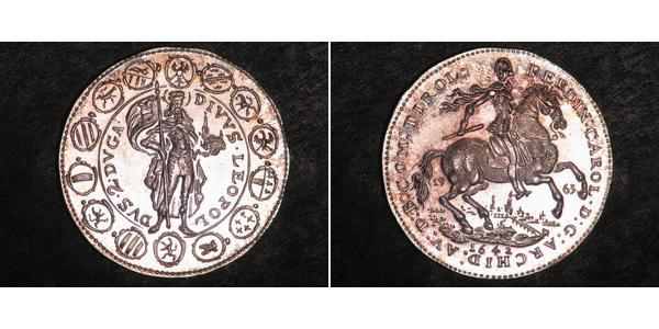 2 Ducat Sacro Romano Impero (962-1806) Oro Ferdinando Carlo d