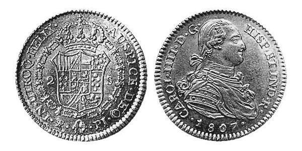 2 Escudo 玻利維亞 / 拉普拉塔总督辖区 (1776 - 1814) 金 卡洛斯四世 (1748-1819)