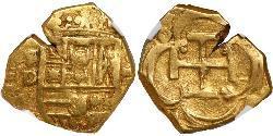 2 Escudo 西班牙哈布斯堡王朝 (1516 - 1700) 金 Philip III of Spain (1578-1621)