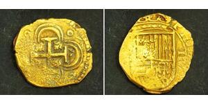 2 Escudo 西班牙 / 哈布斯堡君主國 金 腓力二世 (西班牙) (1527 - 1598)