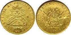 2 Escudo Argentinien (1861 - ) Gold
