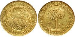 2 Escudo Federal Republic of Central America (1823 - 1838) / Costa Rica Gold