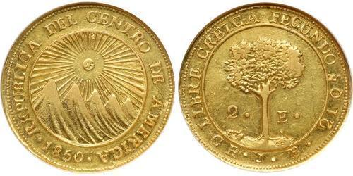 2 Escudo Costa Rica / Federal Republic of Central America (1823 - 1838) Gold