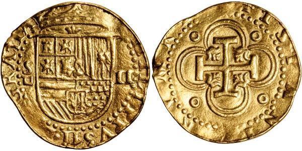 2 Escudo Habsburg Empire (1526-1804) / Spain Gold Philip II of Spain (1527-1598)