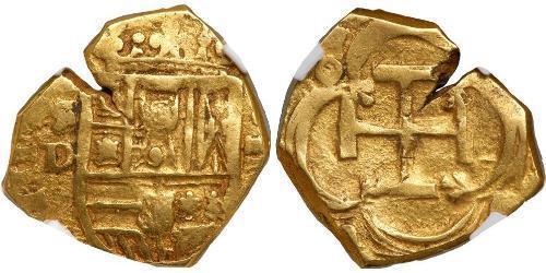 2 Escudo Habsburg Spain (1506 - 1700) Gold Philipp III. von Spanien (1578-1621)