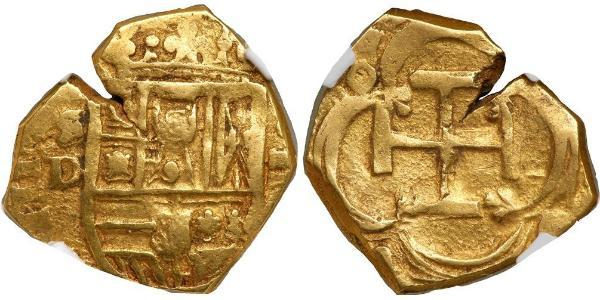 2 Escudo Habsburg Spain (1506 - 1700) Gold Philip III of Spain (1578-1621)
