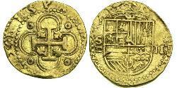 2 Escudo Habsburgermonarchie (1526-1804) / Spanien Gold Philipp II. (Spanien) (1527-1598)