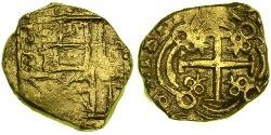 2 Escudo New Kingdom of Granada (1549 - 1739) Gold Philip V of Spain(1683-1746)