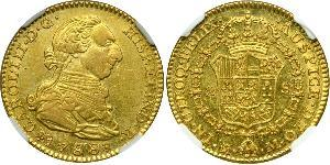 2 Escudo Peru Gold Charles III of Spain (1716 -1788)