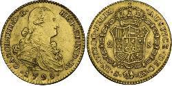 2 Escudo Spanisches Kolonialreich (1700 - 1808) Gold Karl IV (1748-1819)