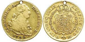 2 Escudo Spanish Empire (1700 - 1808) Gold Charles IV of Spain (1748-1819)