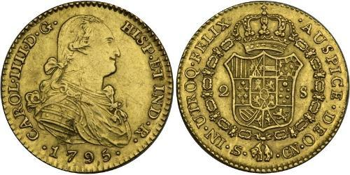 2 Escudo Empire espagnol (1700 - 1808) Or Charles IV d