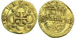 2 Escudo Habsburg Empire (1526-1804) / Spanien Or Philippe II d