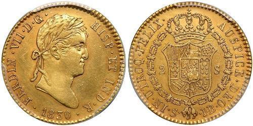 2 Escudo Nouvelle-Espagne (1519 - 1821) Or Ferdinand VII d