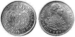 2 Escudo Bolivia / Virreinato del Río de la Plata (1776 - 1814) Oro Carlos IV de España (1748-1819)
