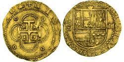 2 Escudo Habsburg Spain (1506 - 1700) Oro Felipe II de España (1527-1598)
