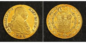 2 Escudo Imperio español (1700 - 1808) Oro Carlos IV de España (1748-1819)
