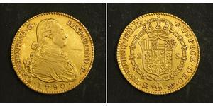 2 Escudo Impero spagnolo (1700 - 1808) Oro Carlo IV di Spagna (1748-1819)