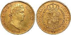 2 Escudo Vicereame della Nuova Spagna (1519 - 1821) Oro Ferdinando VII di Spagna (1784-1833)