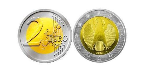 2 Euro 德国 Bimetal