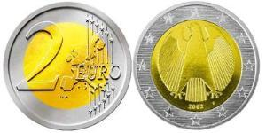 2 Euro Alemania Bimetal