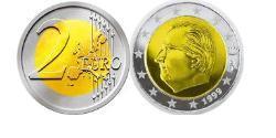 2 Euro Belgium Bimetal Albert II of Belgium