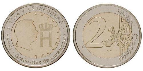2 Euro Luxembourg Bimetal