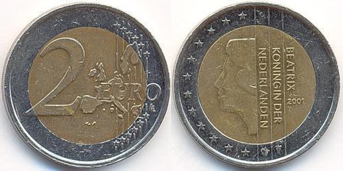 Münze 2 Euro Königreich Der Niederlande 1815 Bimetall 2001 Preis