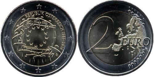 2 Euro Republic of Austria (1955 - ) Níquel