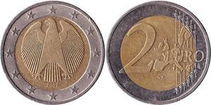 2 Euro Alemania (1990 - ) Níquel/Cobre