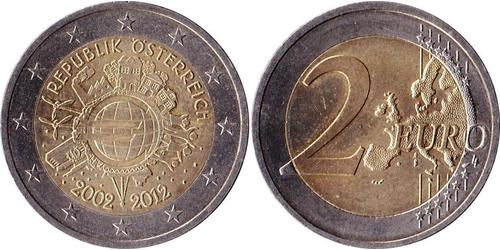 2 Euro Republic of Austria (1955 - ) Nichel